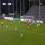 J-Södra [1]-0 Kalmar FF - Kevin Rodeblad Lowe 3' (Allsvenskan relegation playoff)
