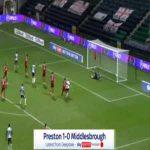 Preston 1-0 Middlesbrough - Andrew Hughes 62'