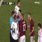 Dominik Plechaty (Sparta Praha) straight red card against Milan 77'