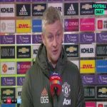 """Ole: """"Overall draw is fair. The mental energy you have to spend to recover from Tuesday night is high... The glass is always half full with me. In my time against City, that was the best performance we've had, not the best result but the best performance.""""   Post-Match Interview"""
