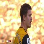 Pedro Neto beautiful Rabona cross vs. Aston Villa