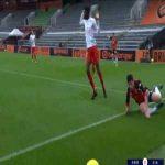 Lorient 2-0 Nîmes - Pierre Yves Hamel penalty 29'