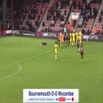Alexander Pattison (Wycombe) straight red card against Bournemouth 64'
