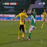 Bremen 0-1 Dortmund - Raphael Guerreiro 12'