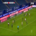 Hamburger SV 1-0 Sandhausen - Simon Terodde 30'
