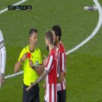 Raul Garcia (Athletic Bilbao) second yellow card against Real Madrid 13'