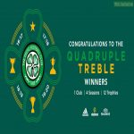 Celtic become the worlds first quadruple treble winners after winning the 19/20 Scottish cup this afternoon.