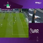 Tottenham 0 - [1] Leicester - Jamie Vardy 45+4' (Penalty + Call)