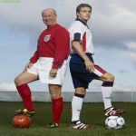 Sir Bobby Charlton and David Beckham from 1998