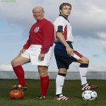 Sir Bobby Charlton and David Beckham from 1998
