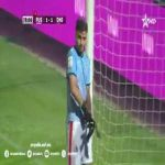 In the Moroccan league, the second goalkeeper provokes a dangerous freekick and gets sent out. A defender takes over and makes a great save.