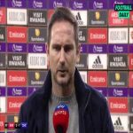 "Lampard: ""Not good enough. When you attack the game like we did, things like the Saka goal happen, because you don't deserve luck... I'll take responsibility on the outside but players have to take the responsibility because the message was clear"" 