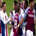 Tyrone Mings First Yellow Card Against Crystal Palace