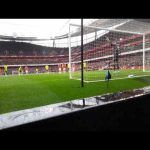 Throwback to when I used to work pitch side for Arsenal as a flag waver a few years ago... Quite a unique perspective of an Arteta penalty which hopefully some of you will appreciate.