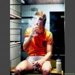 Johan Cruyff during halftime break in 1978.