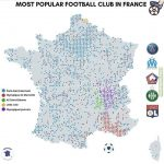 Most popular fremch clubs throughout France