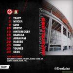 Frankfurt squad vs Leverkusen