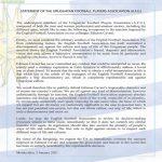 Statement of the Uruguayan Football Players Association regarding Cavani's situation