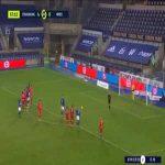 Baptiste Reynet (Nîmes) penalty save against Strasbourg 57'
