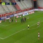 Reims 3-0 Saint-Etienne - Mathieu Cafaro free-kick 59'