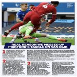 Michael Oliver on the decision process in the Pickford-Van Dijk incident