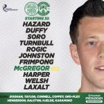 19 year old American Cameron Harper makes his Celtic debut tonight.