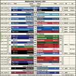 [OC] A Quick Schedule Sheet for Wednesday's Fixtures