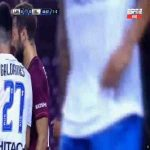 Cristian Tarragona (Velez Sarsfield) straight red card against Lanus 44'