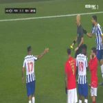 Pepe (FC Porto) and Pizzi (Benfica) yellow cards 51'