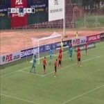 Orlando Pirates defender scores own goal just minutes after having a similar shot saved by his keeper.