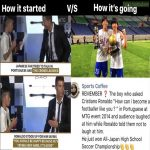 "Kid asks Ronaldo ""How can I become like you""?; years later wins tournament."