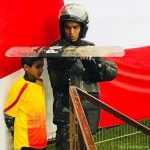From the libyan league yesterday, using his sheild to protect the ball boy from rainning.