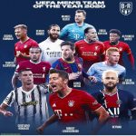 UEFA Men's Team of the Year 2020 as voted by the fans