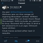 Wolves to Loan Willian Jose from Real Sociedad with Option to Buy - Tim Spiers (S tier Wolves source)