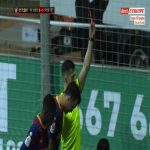 Albert Estelles (Cornella) second yellow card against Barcelona 118'