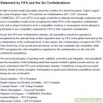 [Rob Harris]Renewed joint warning from FIFA & UEFA that any players participating in a breakaway European Super League would be banned from playing in the World Cup or Euros