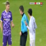 Luc Ihorst (Osnabruck) straight red card against Aue 90'+1'