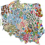 Map of the most popular sport clubs in Poland by counties