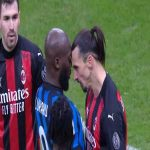 Romelu Lukaku vs. Zlatan Ibrahimovic clash [Inter - AC Milan] - Yellow card for both.