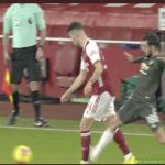 Bruno Fernandes unpunished for this 'tackle' on Granit Xhaka during the first-half.