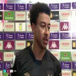 "Lingard: ""I was smiling before the game, during the game, I just love football."" 