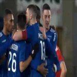 Strasbourg 2-0 Brest - Jean-Eudes Aholou 70'