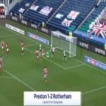 Preston [1]-2 Rotherham - Ched Evans 65'