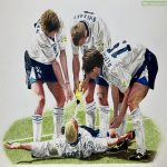 Know it's a bit unusual for this sub, but I recently finished this drawing of one of my favourite footballing memories from the 90s - thought it may be of interest to some