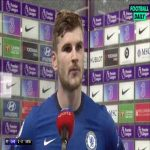 """Timo Werner post match interview - """"I'm happy I scored, finally!"""""""