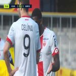 Aboubakar Kamara (Dijon) straight red card against Lens 74'