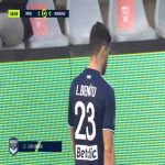 Loris Benito (Bordeaux) straight red card against Nîmes 69'