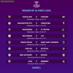 Women's Champions League round of 16. First Leg Schedule