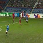 Alfredo Morelos (Rangers) sportsmanship vs Antwerp