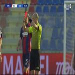 Charalampos Lykogiannis (Cagliari) second yellow card vs. Crotone (75')
